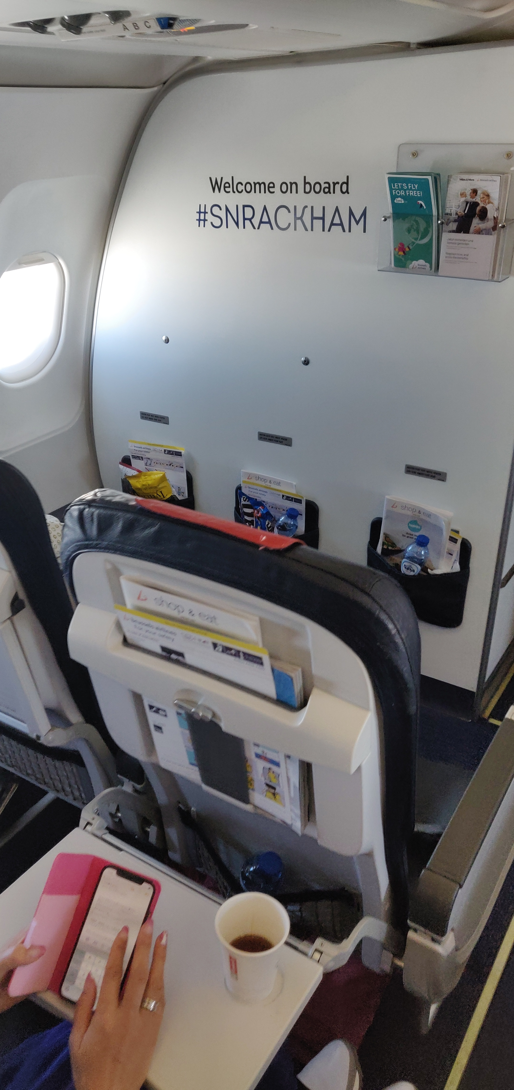 Brussel Airlines Business Class A320 - Bulkhead