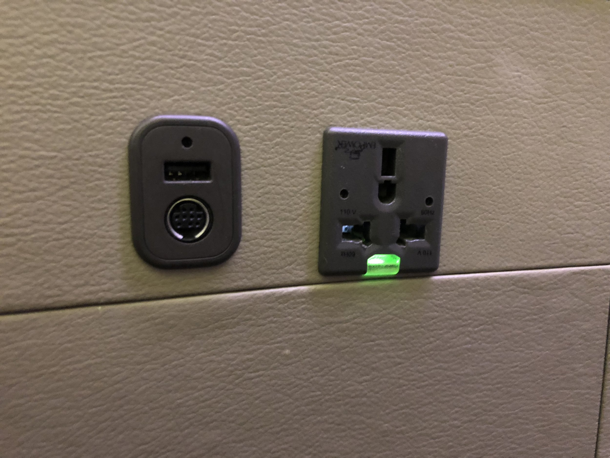 Charging stations at the side of the seat