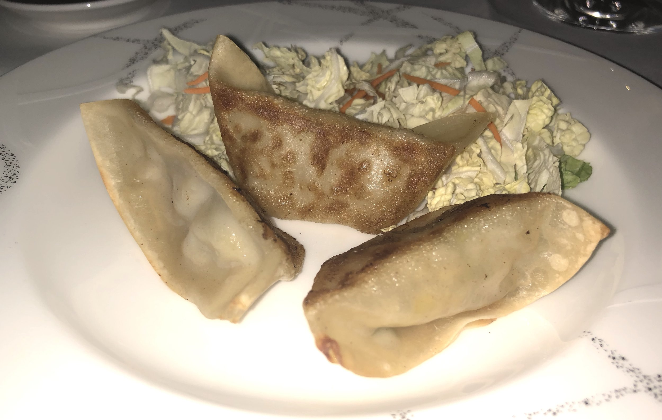Snack: Pork dumplings- my photo didn't give justice to how good it tasted. Believe me it was really good