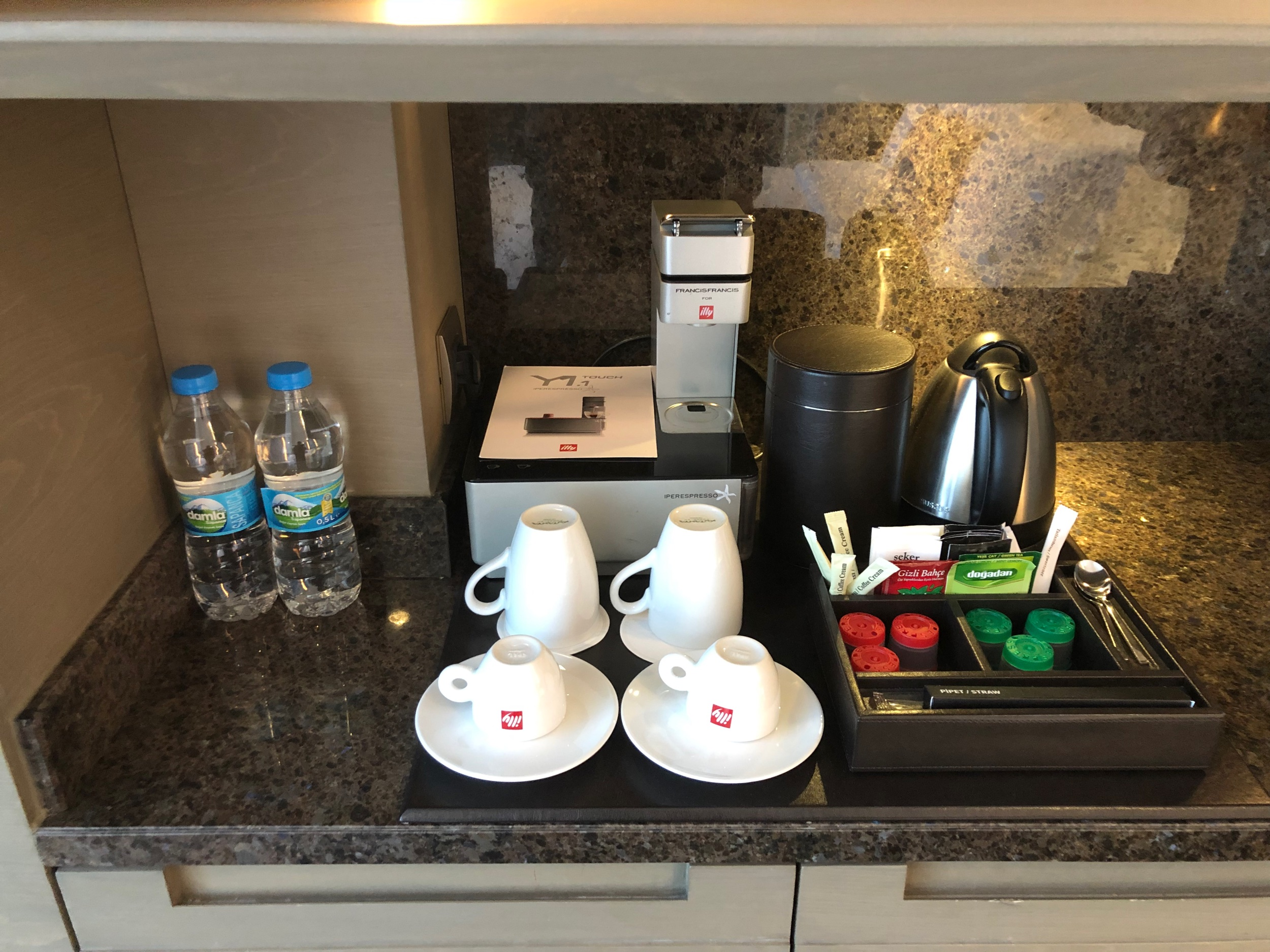 Ritz-Carlton Istanbul Sea View Corner Room - Coffee Station