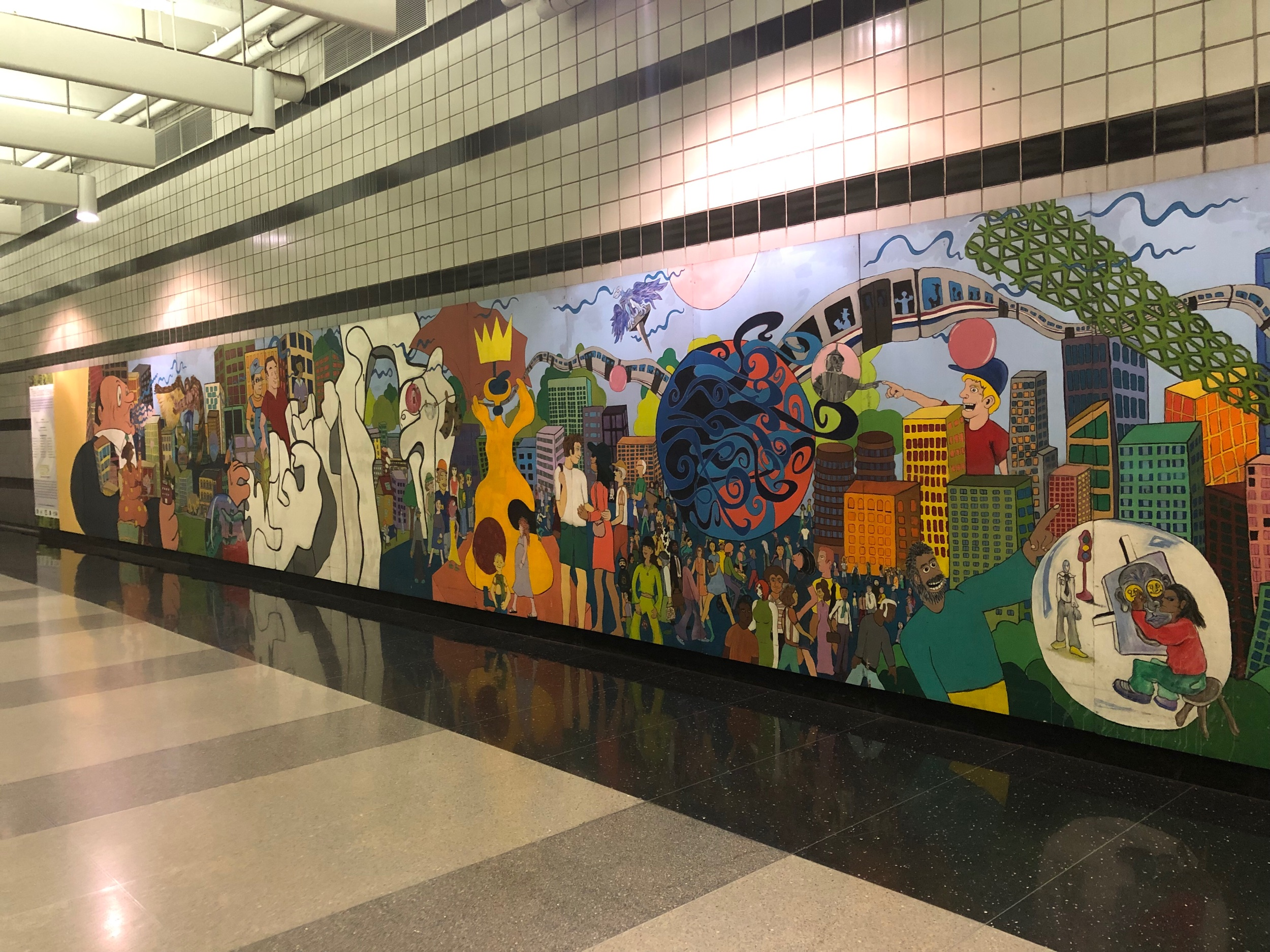 Chicago O'Hare Metro Hall Mural