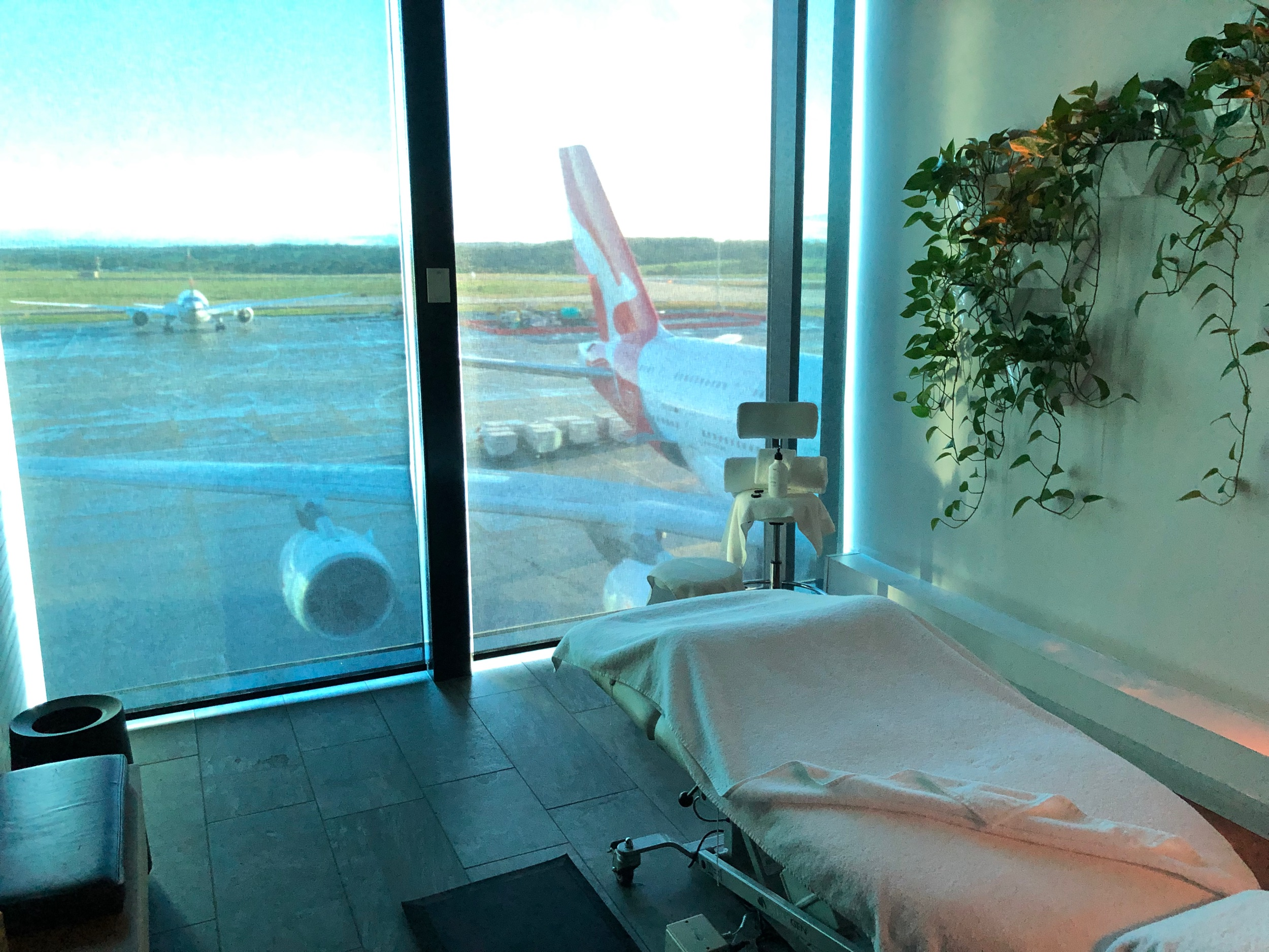 Qantas First Class Lounge Melbourne - Treatment Room with a View