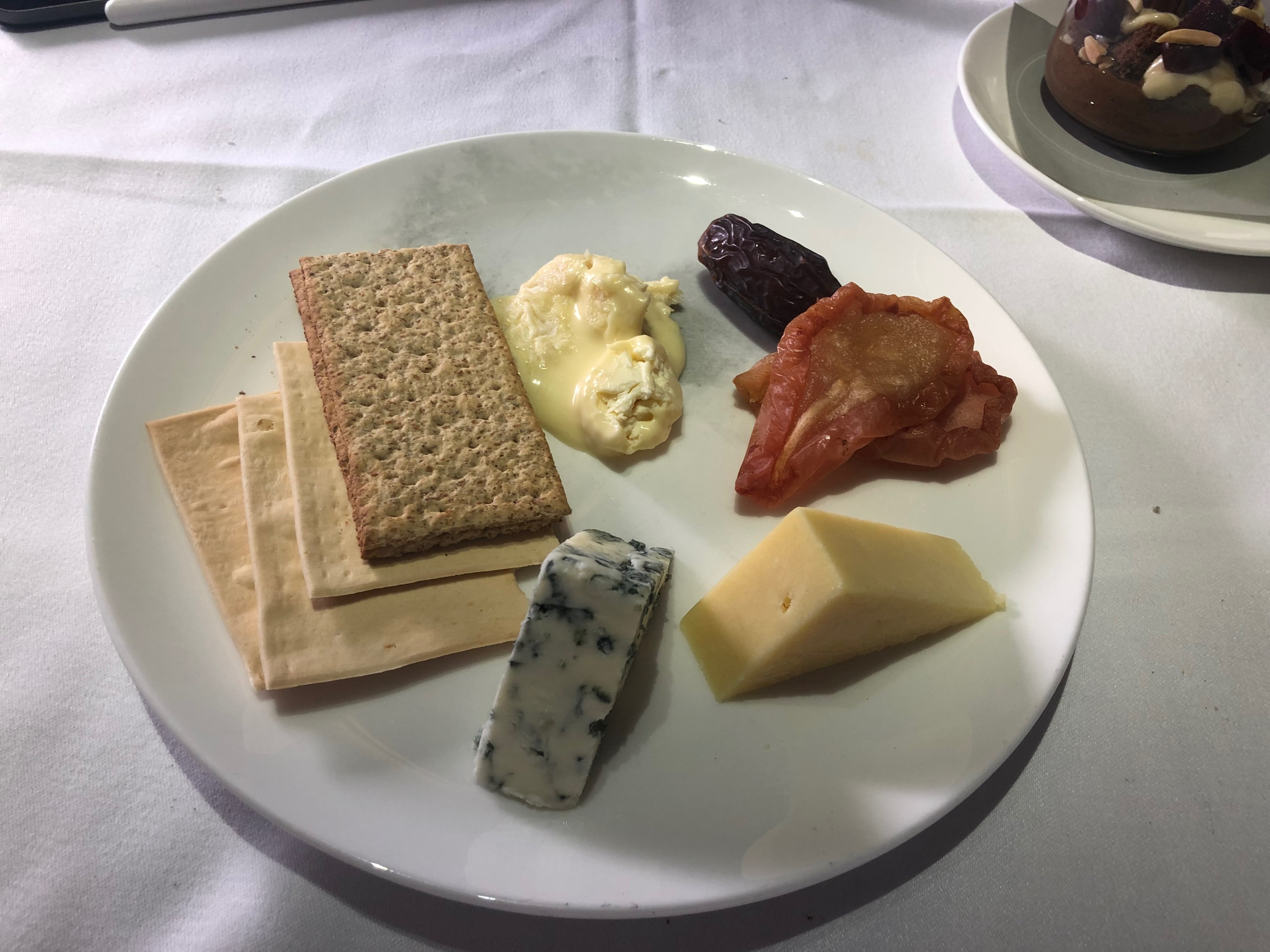 Qantas First Class Dining - Cheese Plate