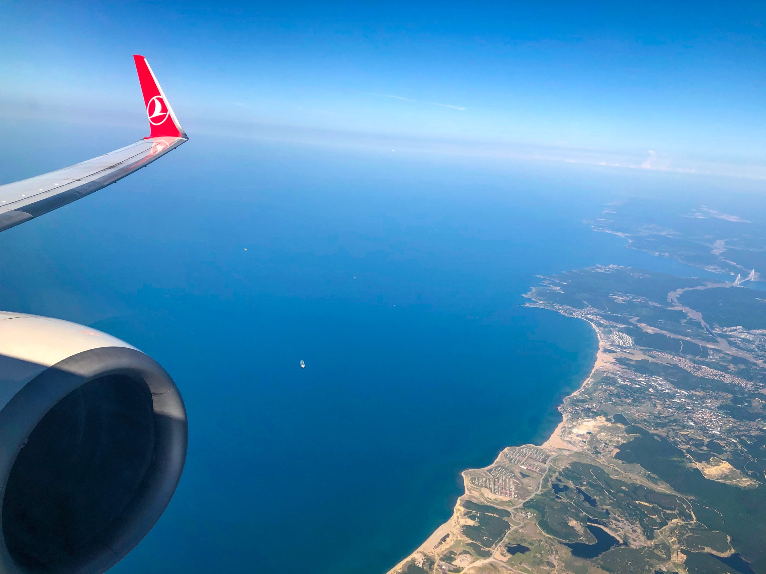 On approach into Milas-Bodrum Airport - Turkish Airlines Business Class