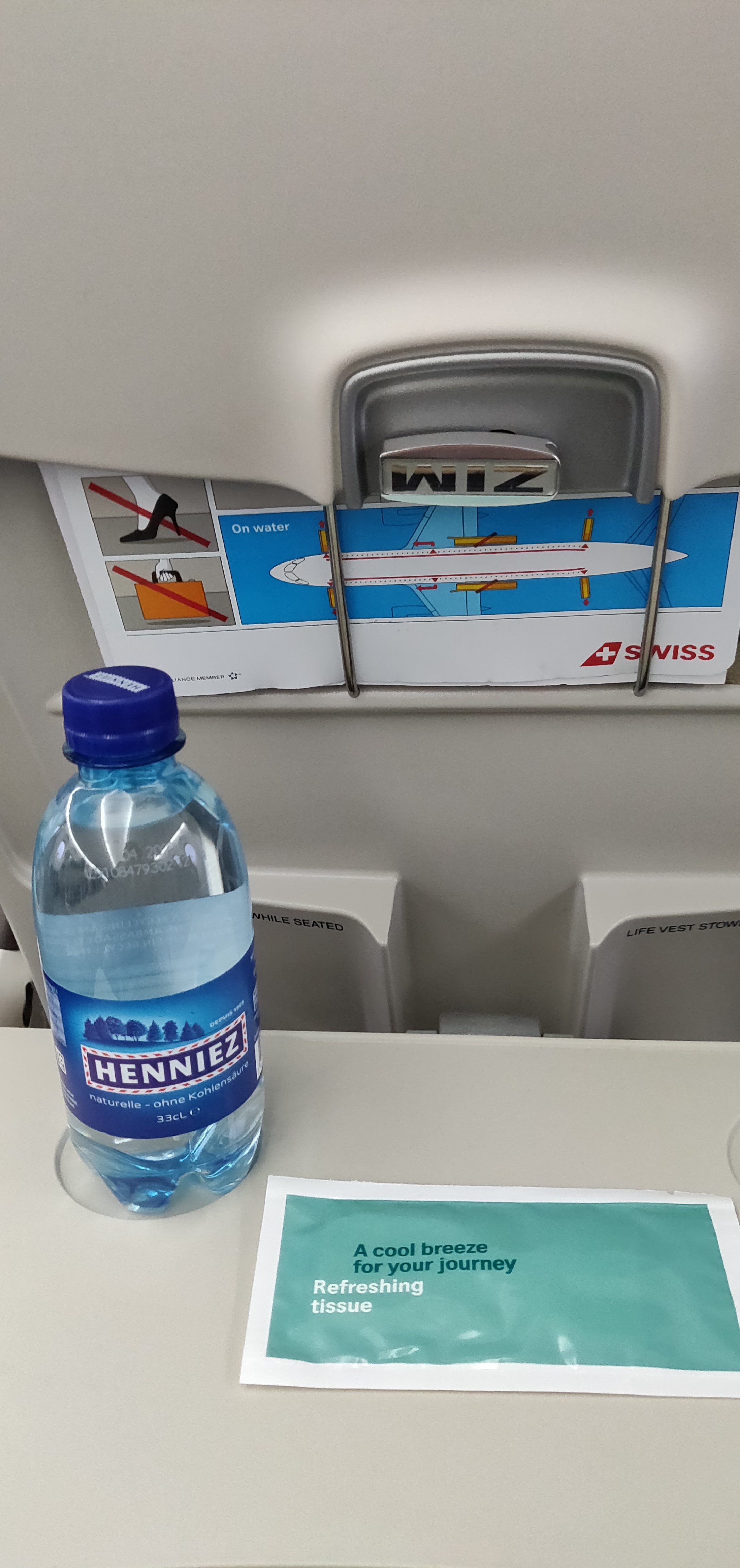 Swiss Airlines Business Class A220 - Welcome Amenity