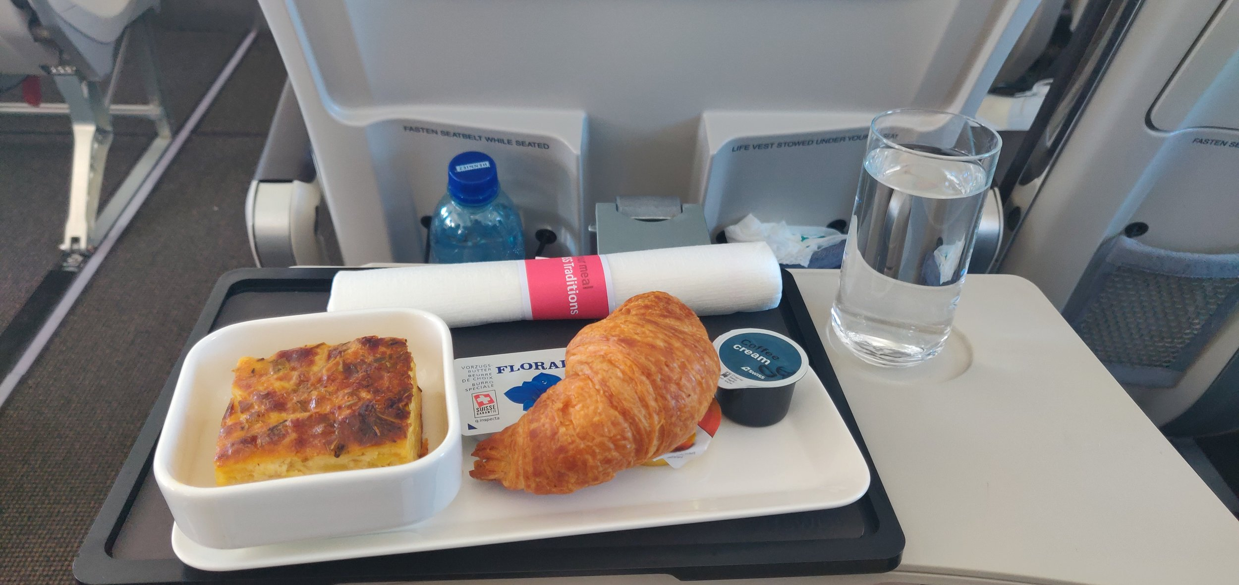 Swiss Airlines Business Class A220 - Meal