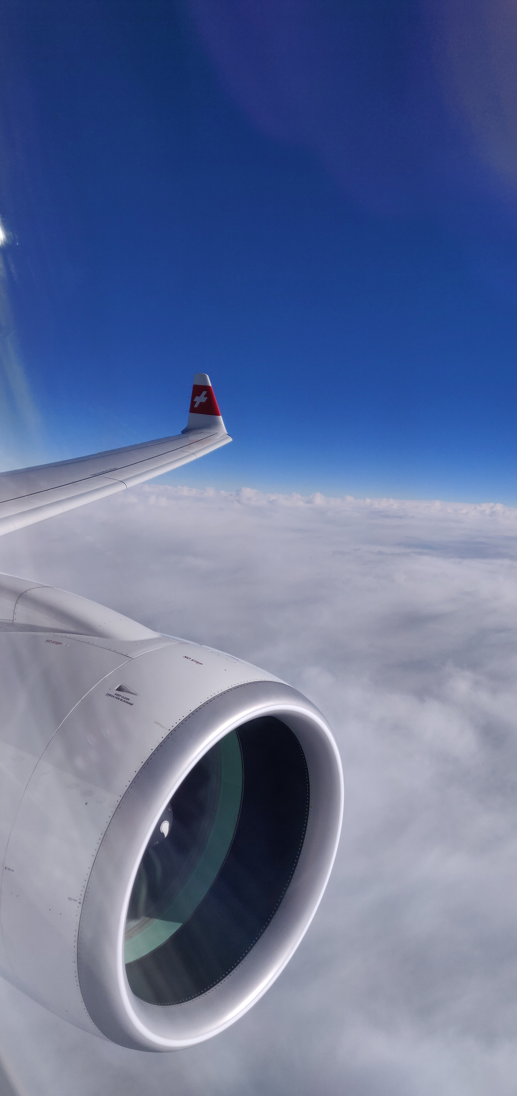 Swiss Airlines Business Class A220 - Window View