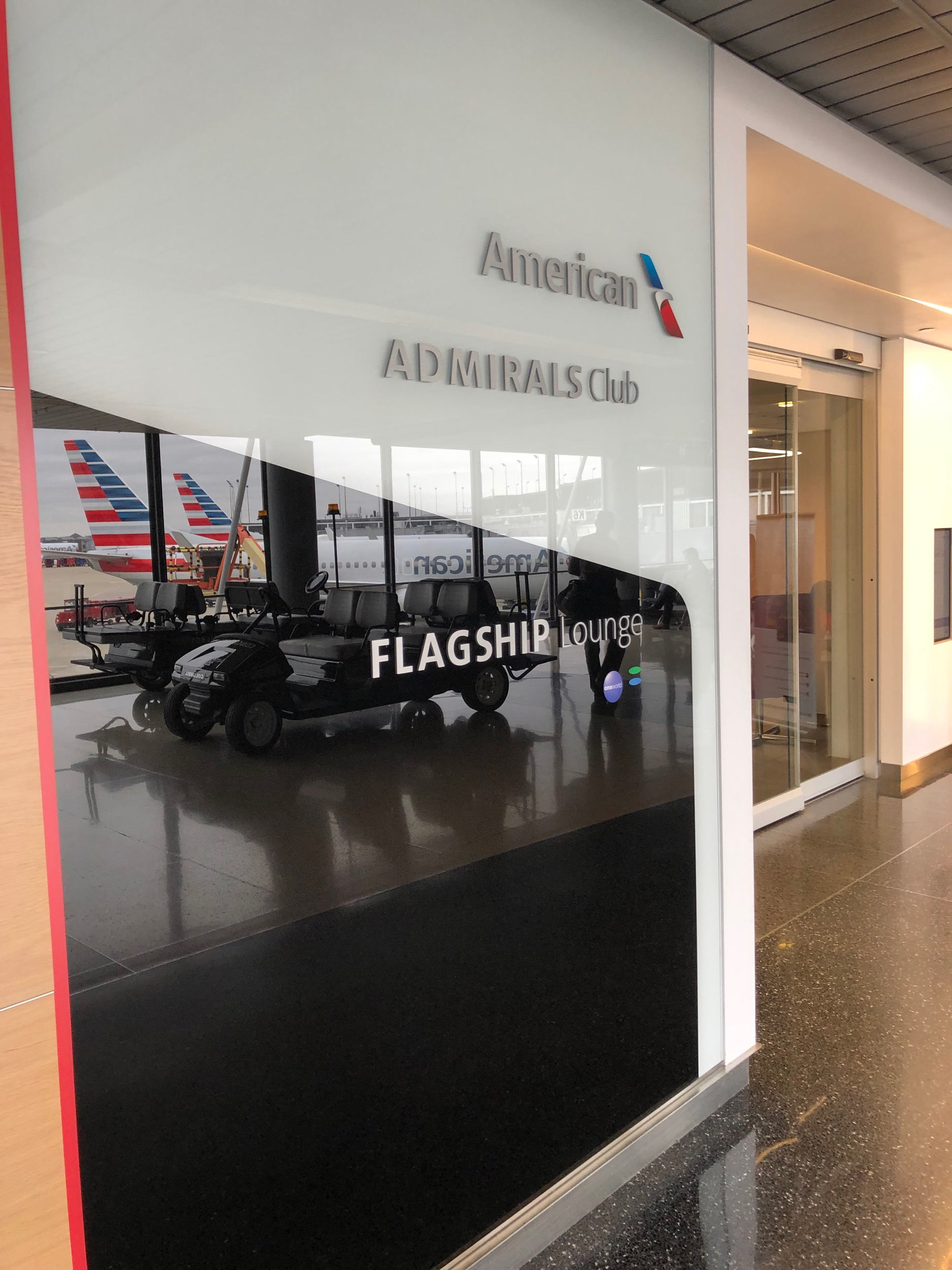 Entrance of ORD's American Airline's Flagship Lounge