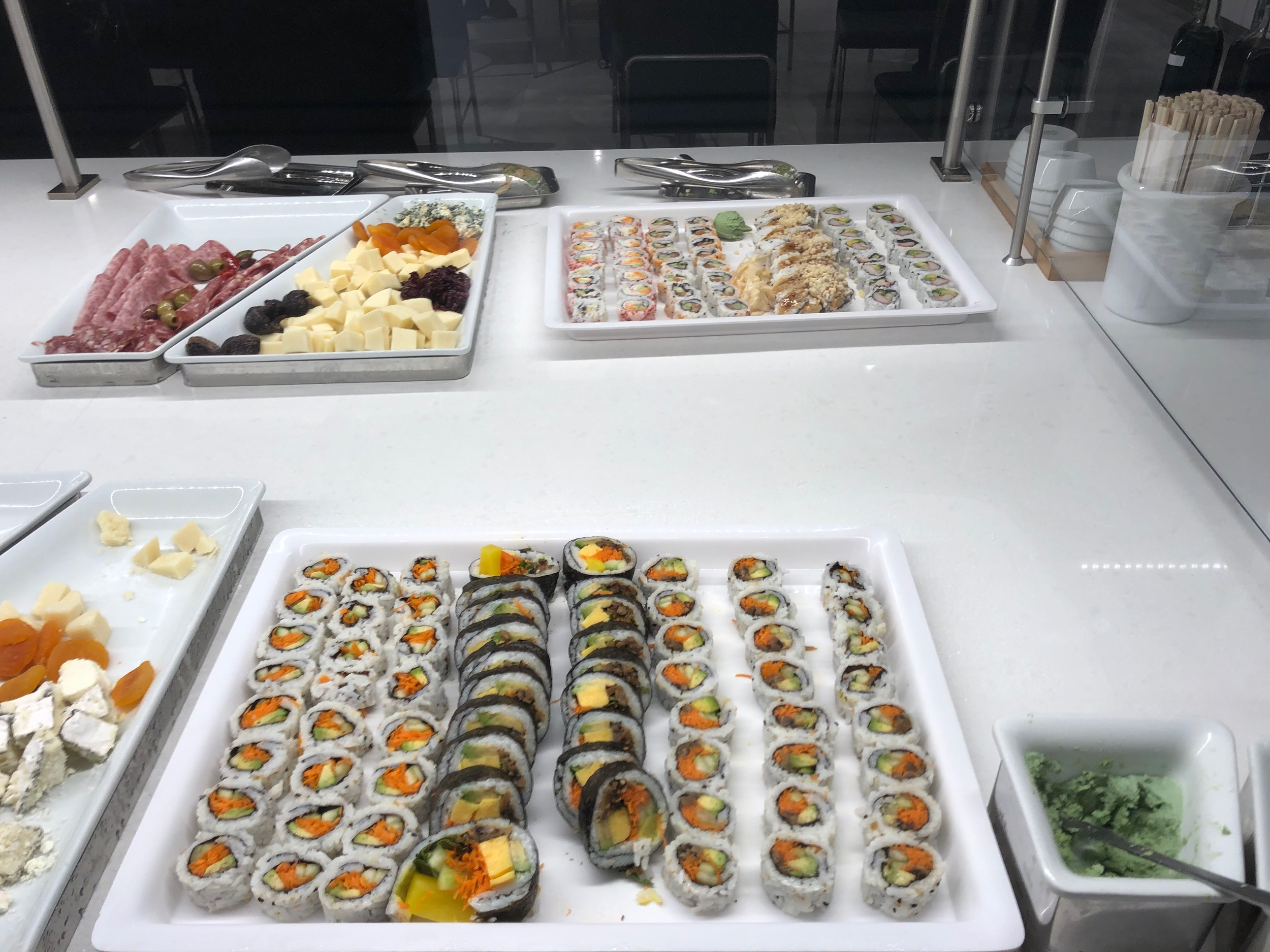 American Airlines Flagship Lounge - Sushi Platter