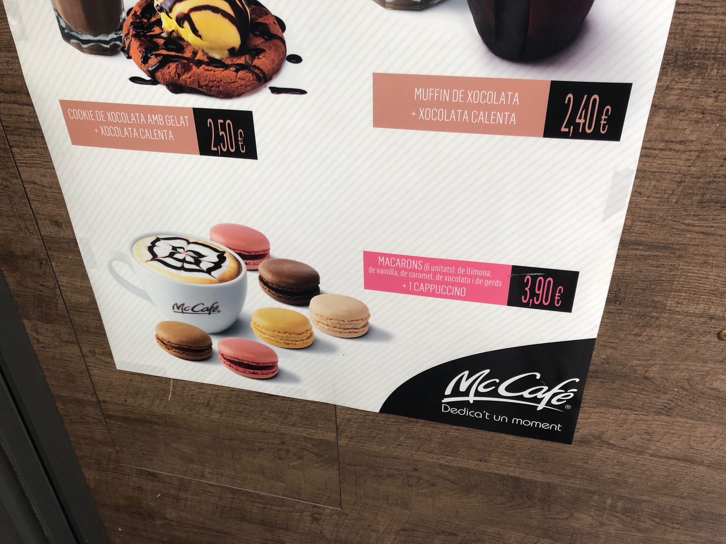 Macarons available at McDonalds!