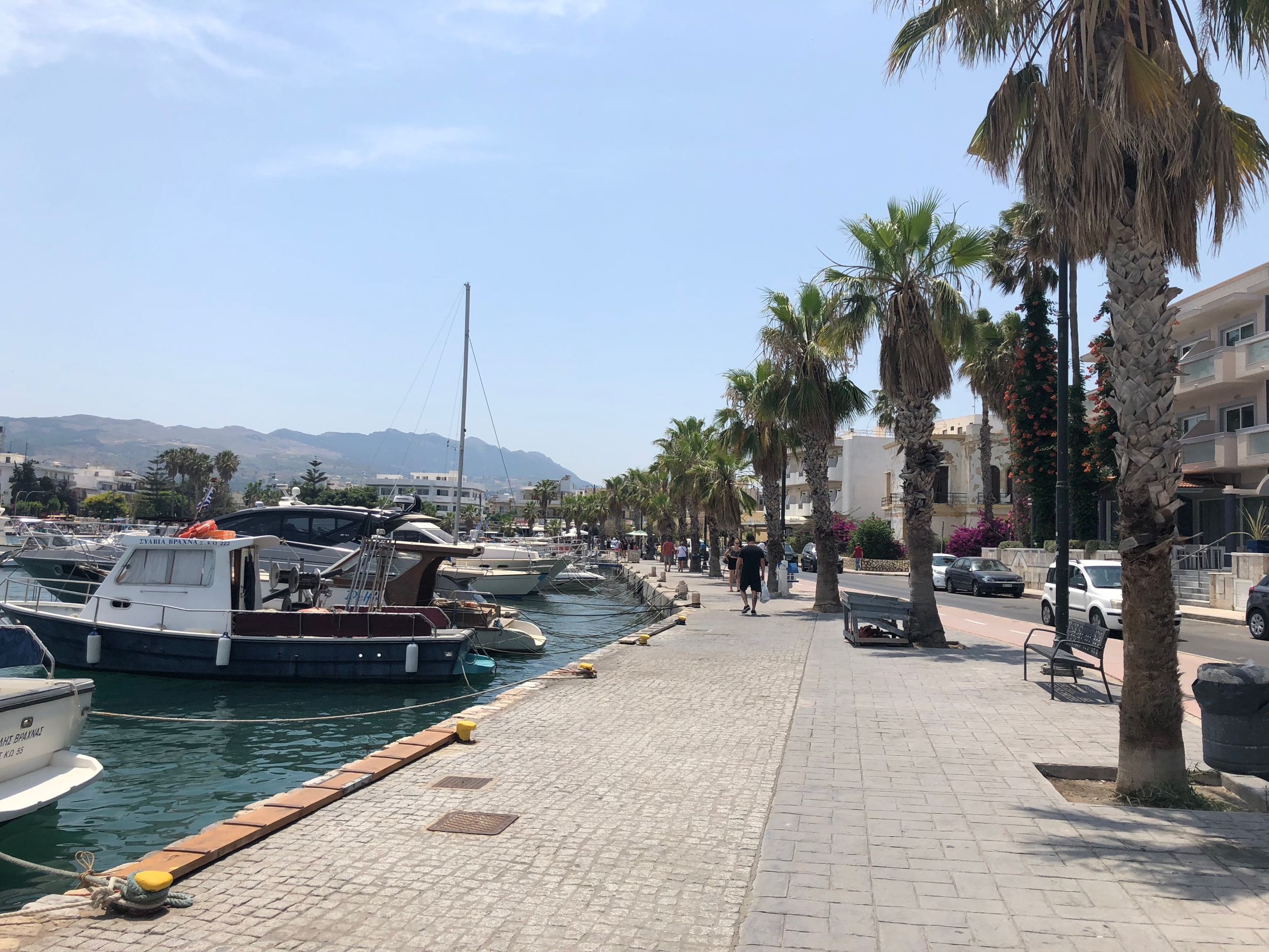 Walking past the port