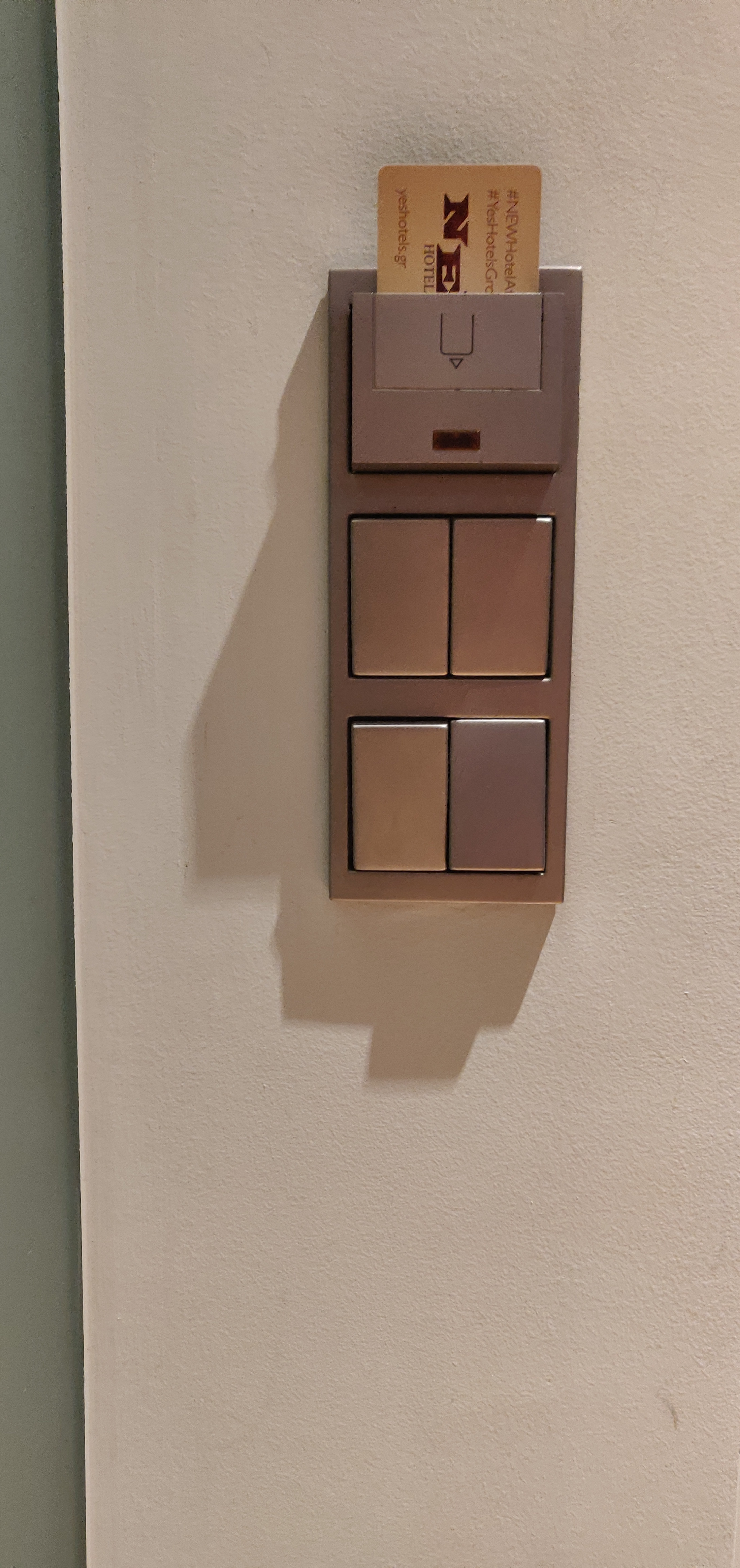 NEW Hotel, Athens - Light Switch