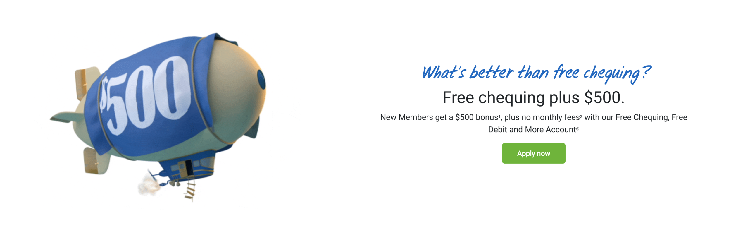 Coast Capital Free Chequing, Free Debit and More Account $500 Bonus Offer