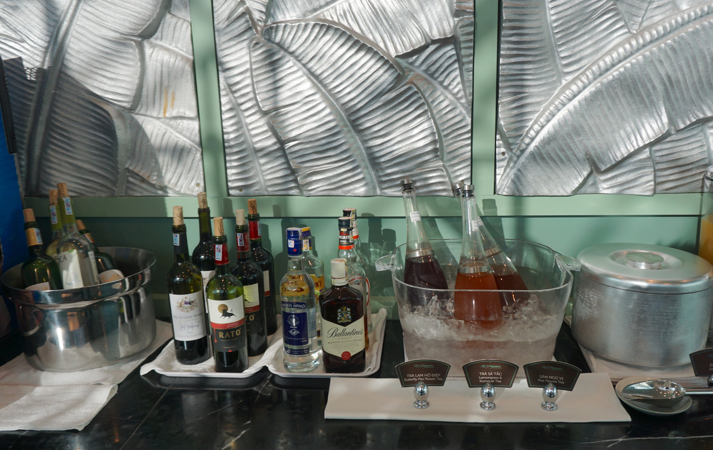 Limited selection of wine and liqour plus home made iced tea