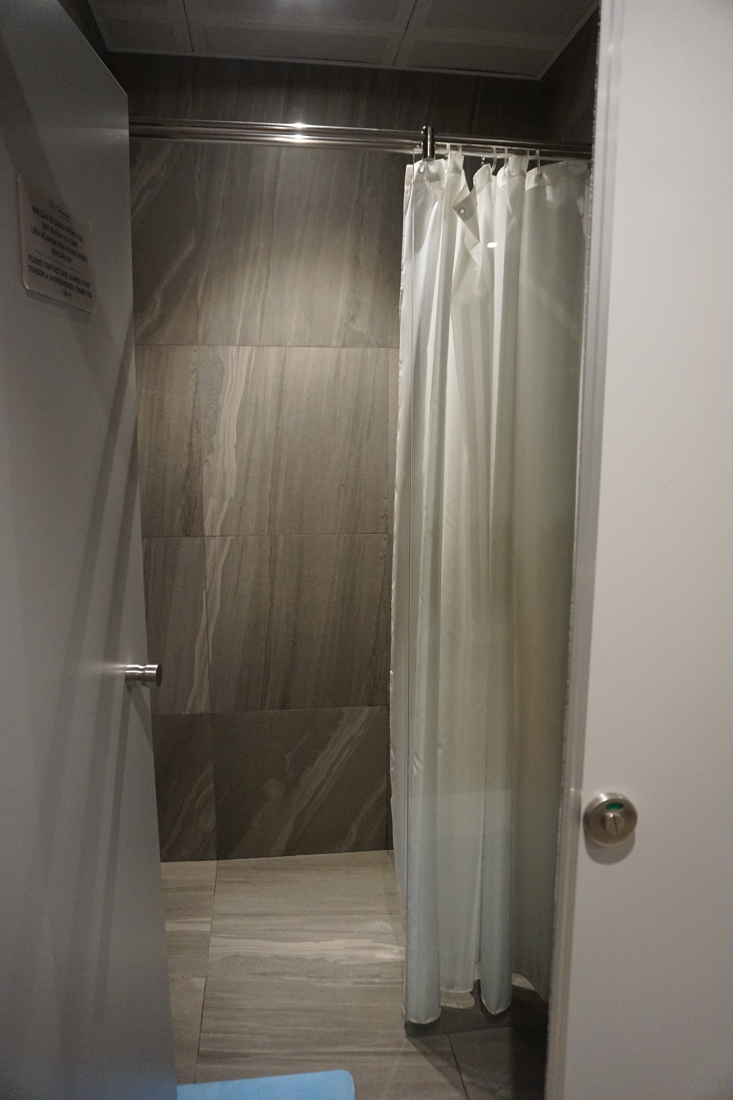 Showers are also available for use