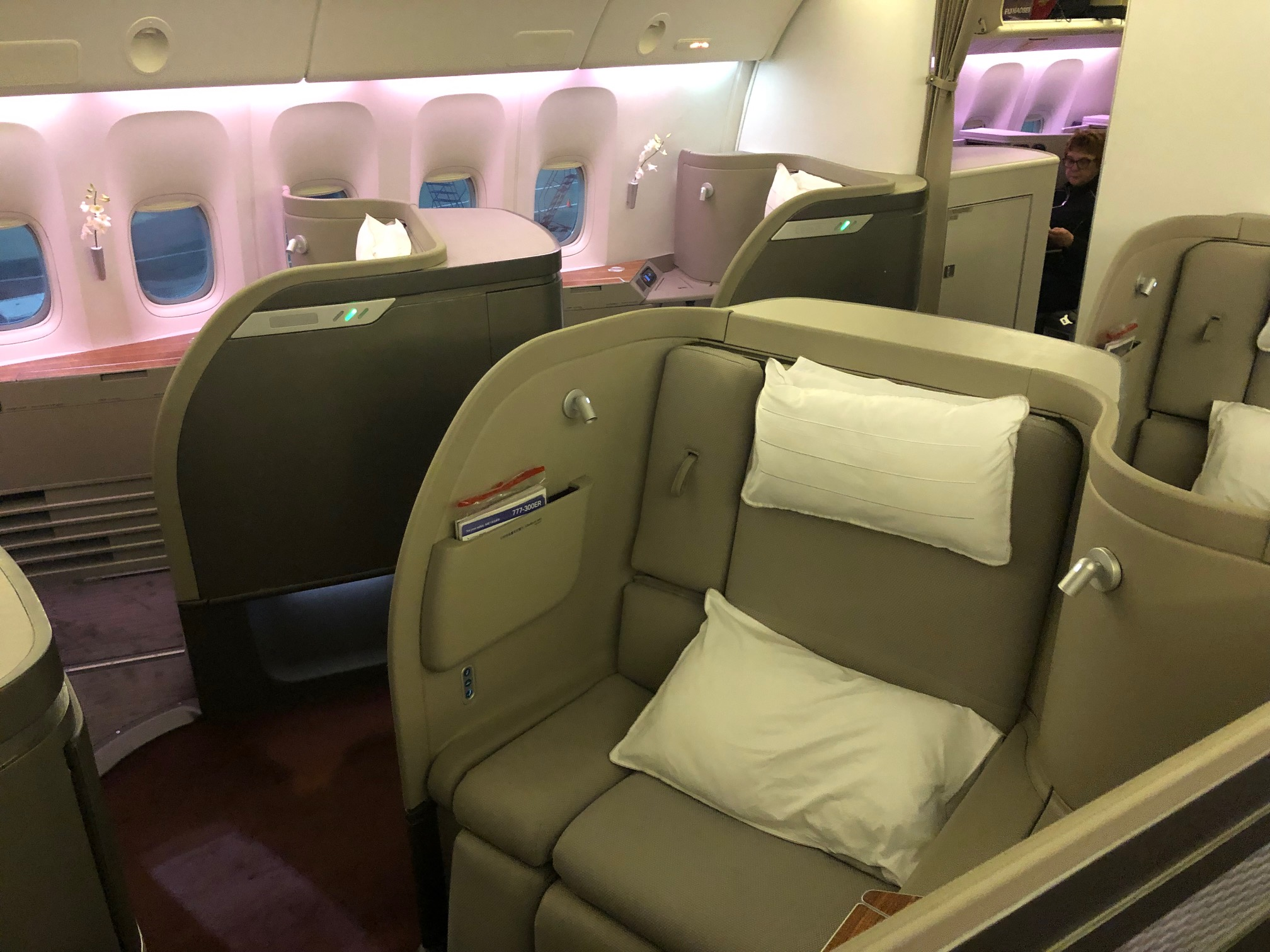 Cathay Pacific First Class - Cabin