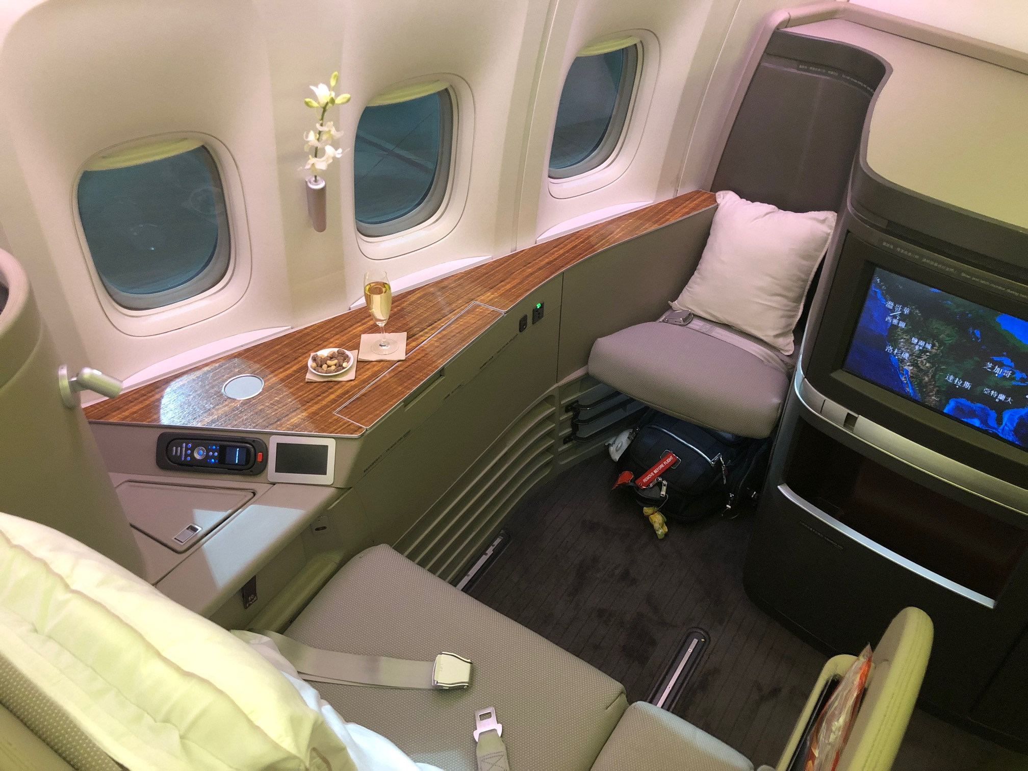 Cathay Pacific First Class - Seat 1A