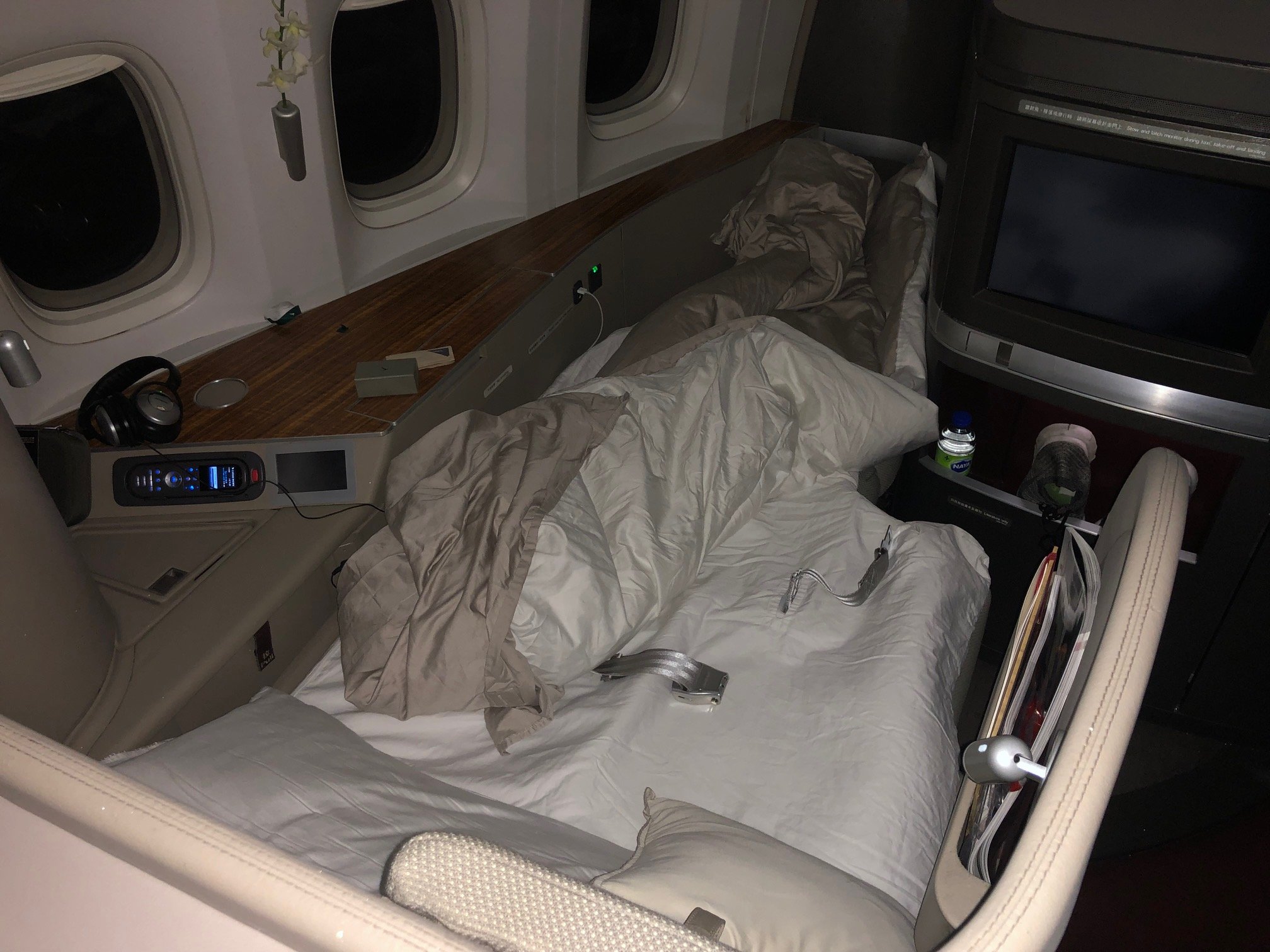 Cathay Pacific First Class - Fully Flat Bed