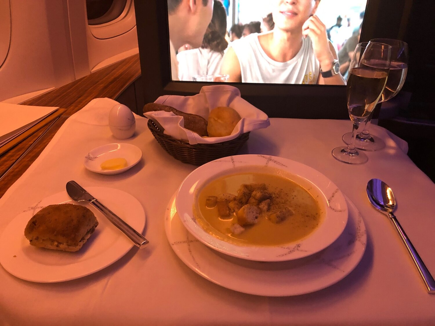 Cathay Pacific First Class - Soup Course