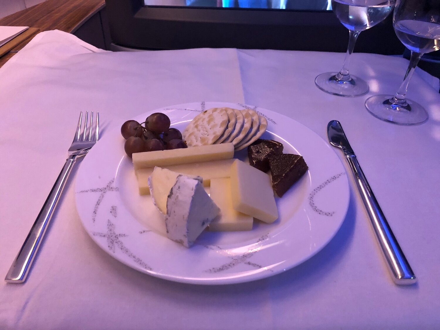 Cathay Pacific First Class - Cheese Plate
