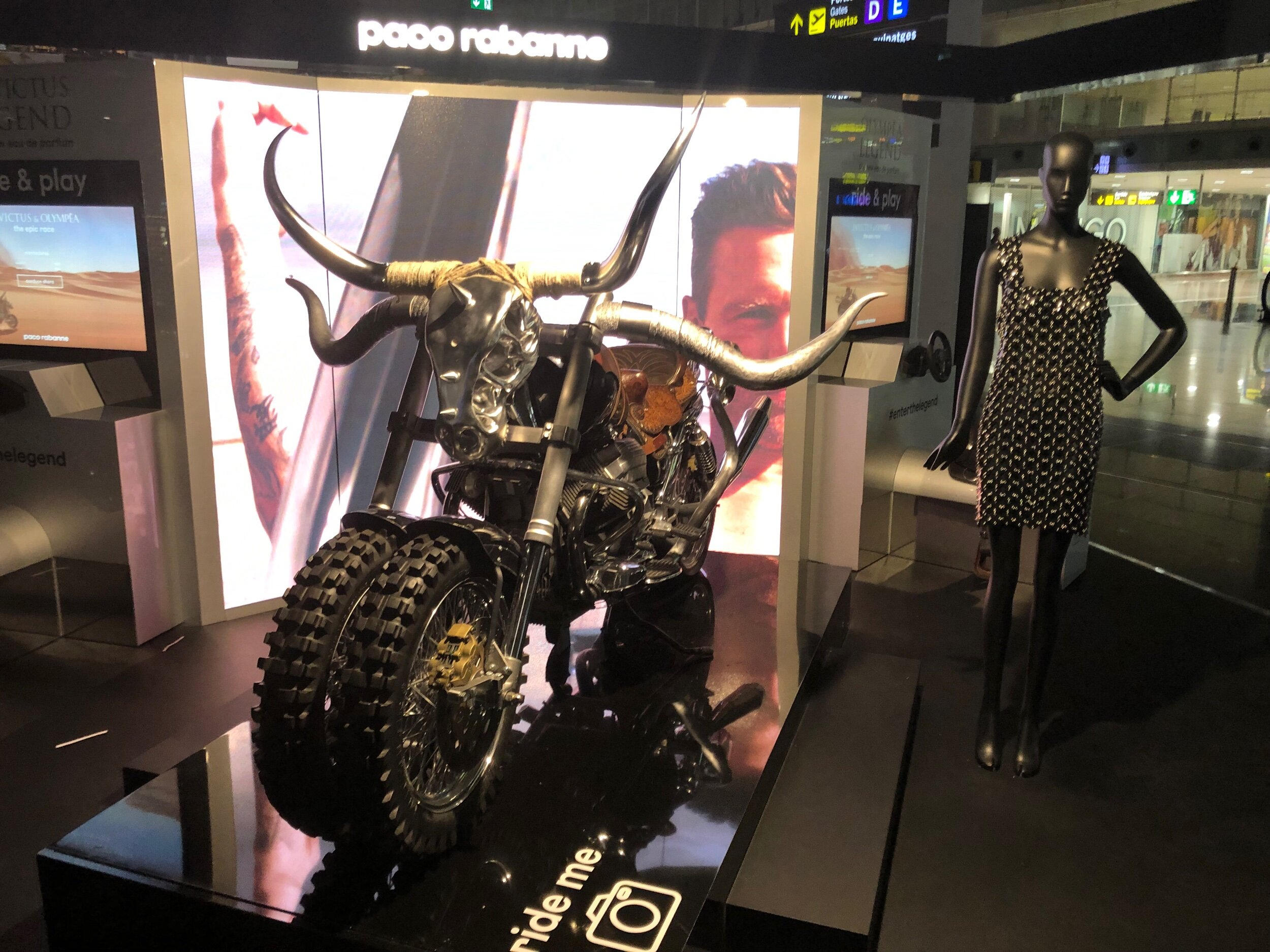 Stumbled upon quite the bike for a Paco Rabanne fragrance promo during my wander