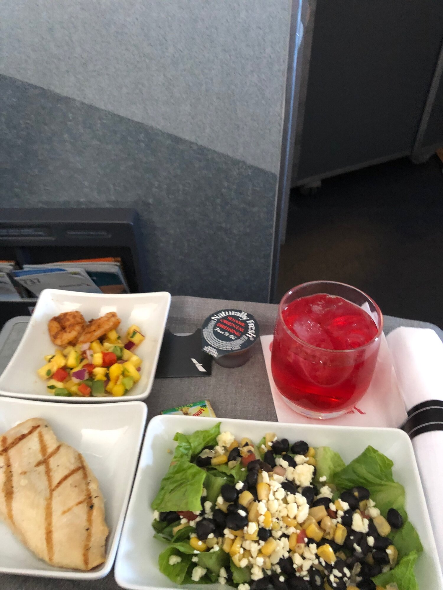 American Airlines Business class lunch