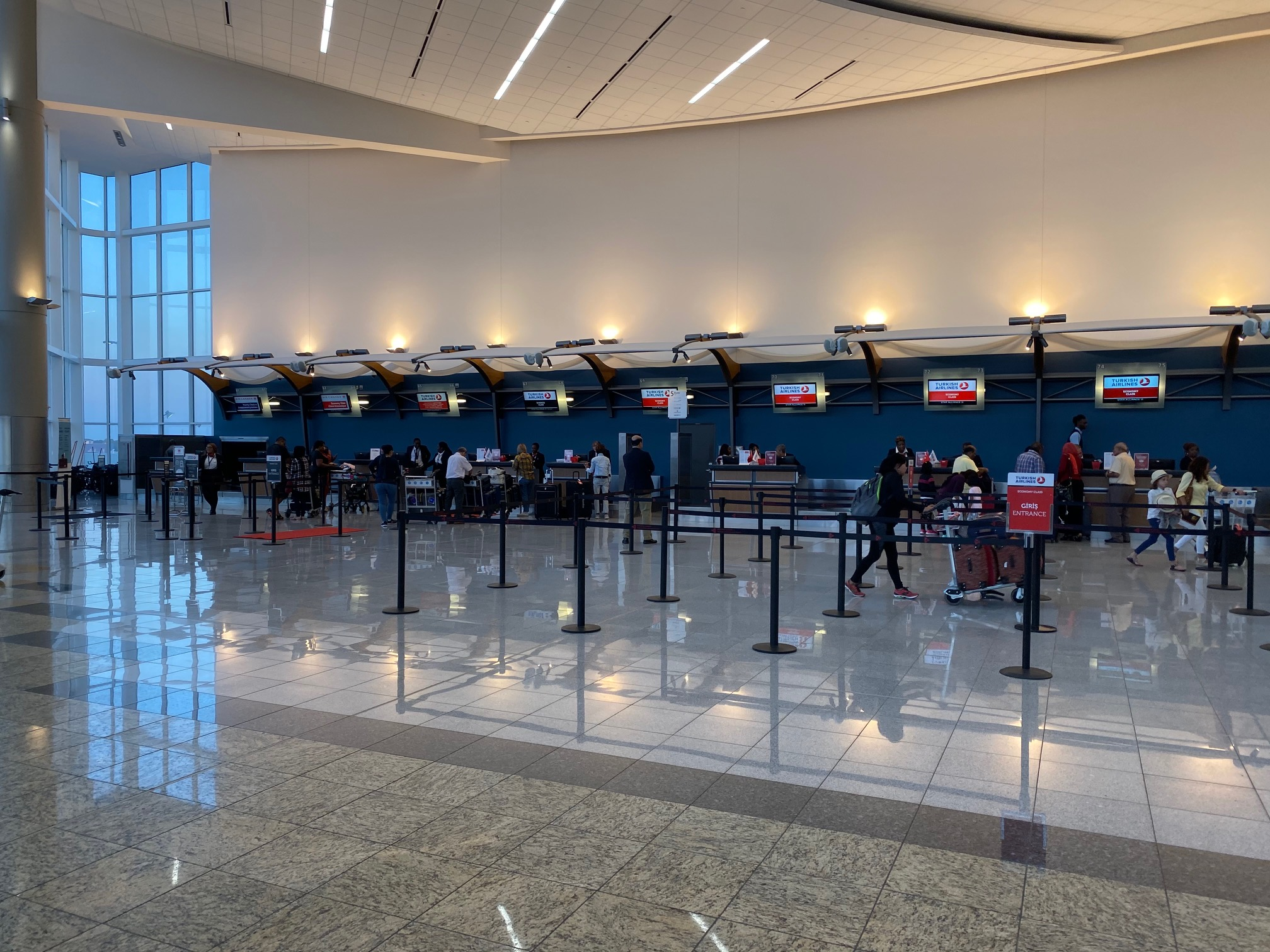 Turkish Airlines Check-In Area ATL