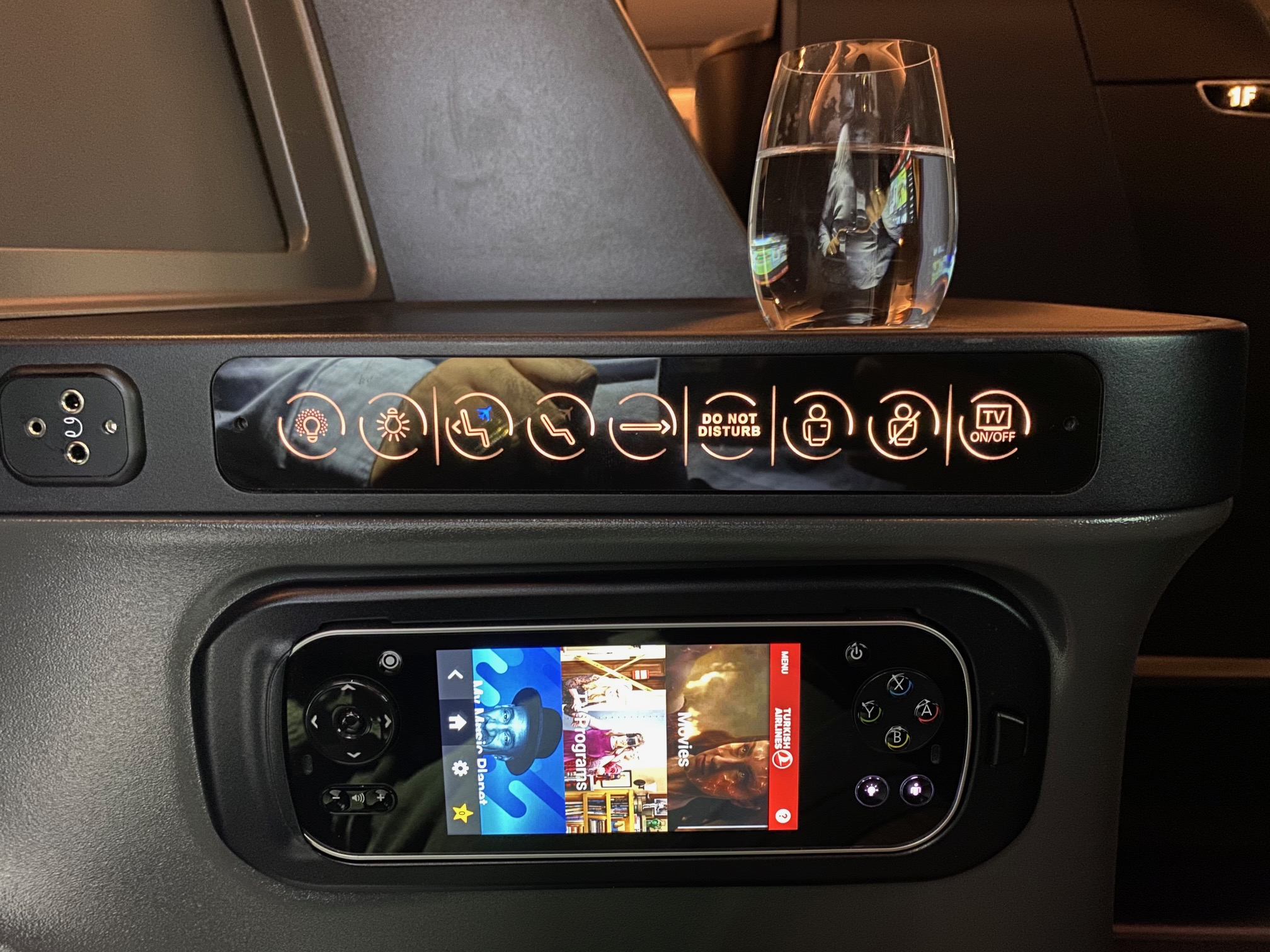 Turkish Airlines 787-9 Business Class Seat Controls