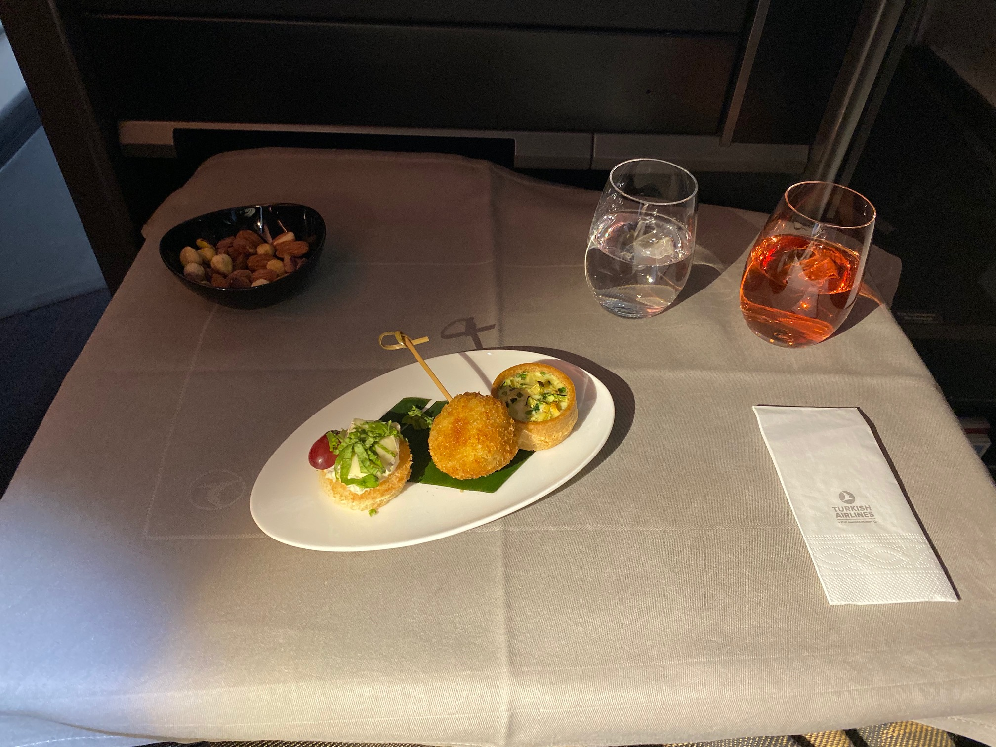 Turkish Airlines 787-9 Business Class Amuse Bouche