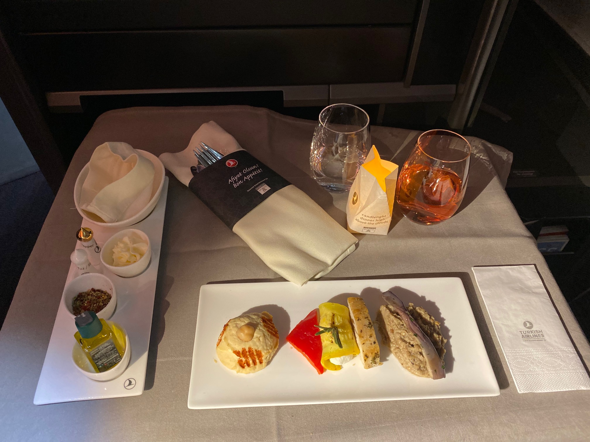 Turkish Airlines 787-9 Business Class Appetizer