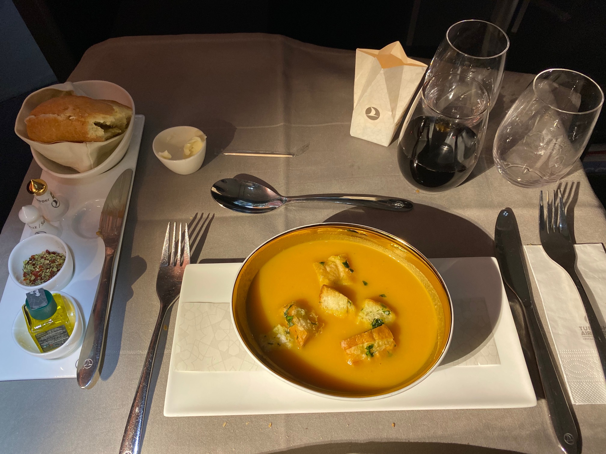Turkish Airlines 787-9 Business Class Soup Course