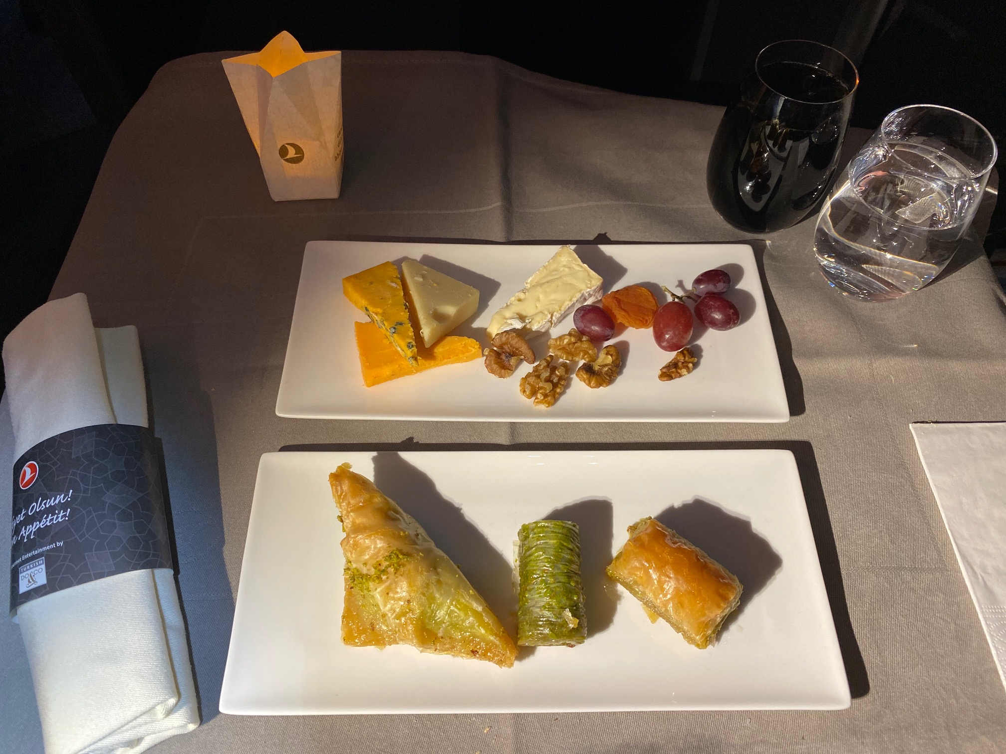 Turkish Airlines 787-9 Business Class Traditional Desserts