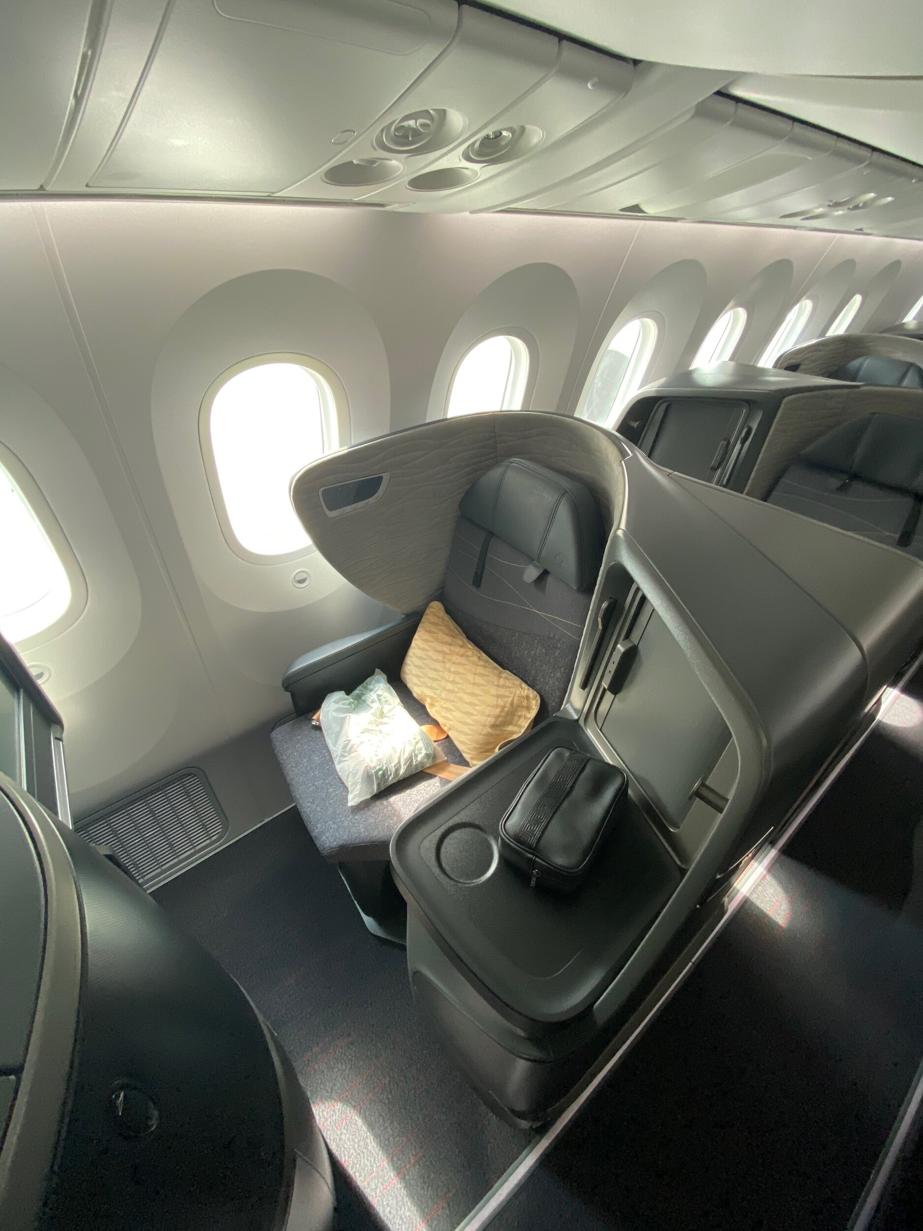 Turkish Airlines Brand New Boeing 787 Business Class Seat
