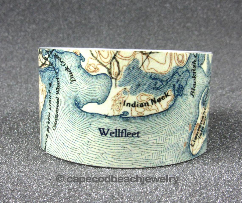 Wellfleet Map Bracelet at Wellfleet Crafts Gallery