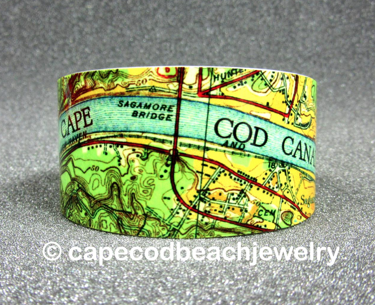 Cape Cod Map Jewelry at Wellfleet Crafts Gallery