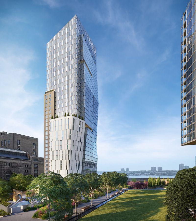 这是一号楼,由普利兹建筑奖获得者Richard Meier设计,室内设计以白色调为主。