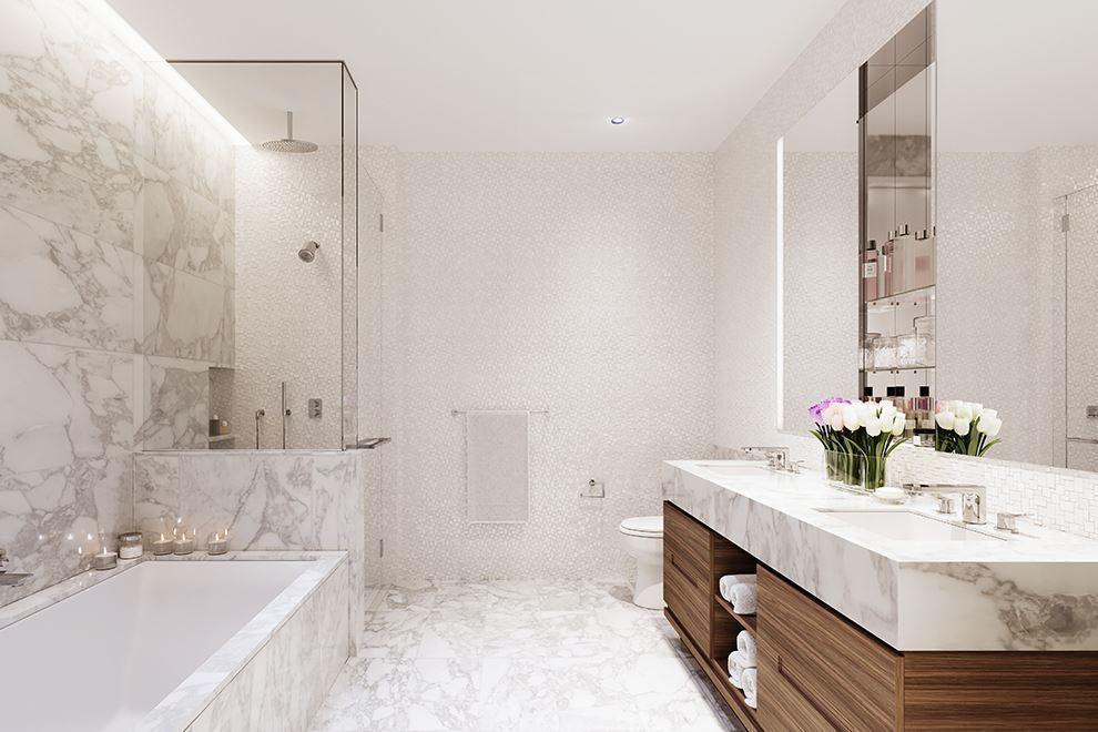 白色调的洗浴室