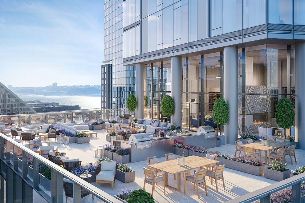 大楼室外屋顶露台,可以BBQ和聚会