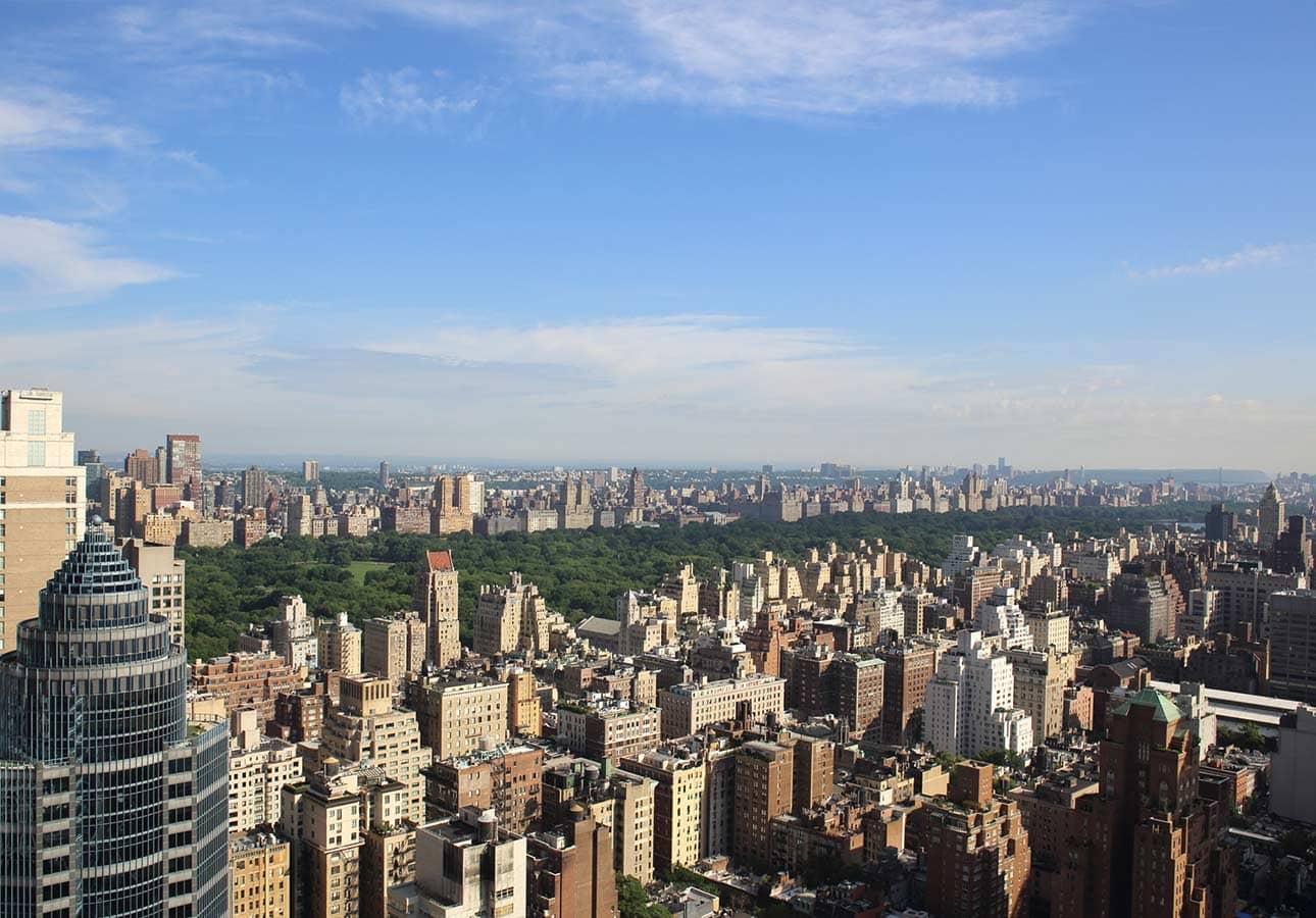 高层可观赏中央公园景观