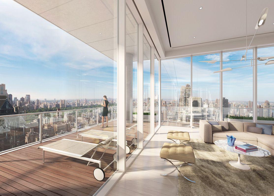 顶层露台和客厅