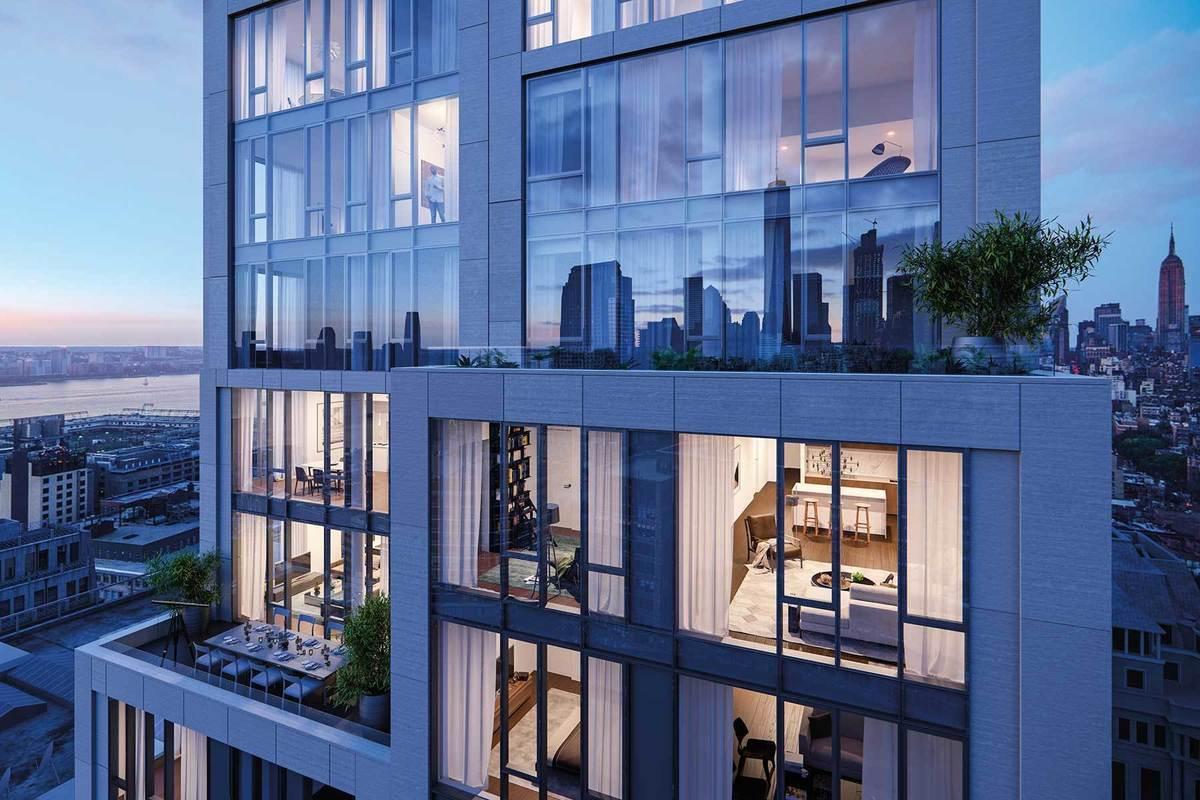 大楼内全部是Floor to Ceiling的大落地窗,能欣赏城市的美丽景观。