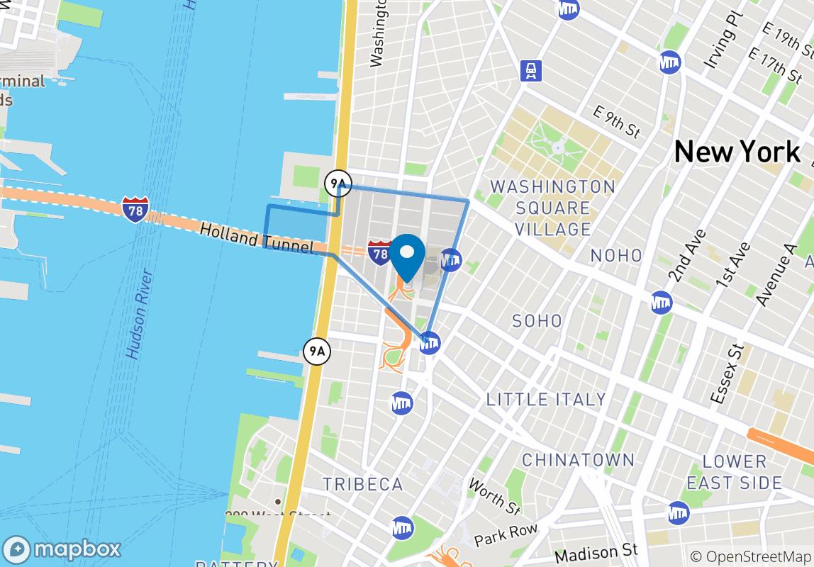 从地图看便可知道,从这里走路到NYU的主校区Washington Square也只要10分钟。