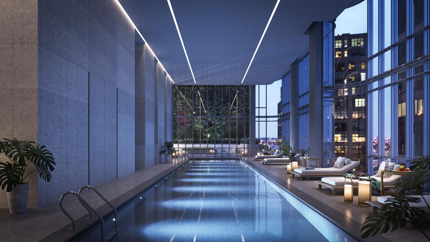 看一座公寓大楼的奢华程度,有没有泳池往往是一个标志。