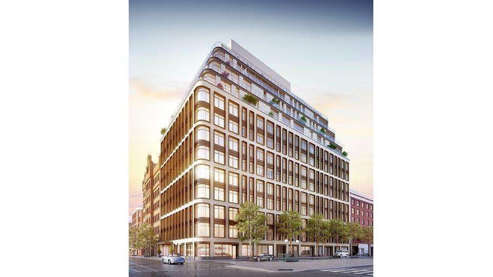 这个新楼盘位于Bleecker Street。在战前老楼居多的SOHO/NOHO这一带区域,它现代光鲜的外表就显得很时尚。