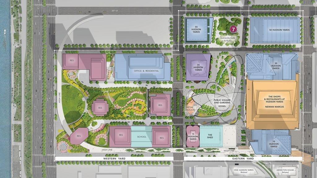 哈德逊庭院的规划蓝图