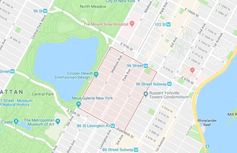 Carnegie Hill (86-96街,5大道-3大道之间)