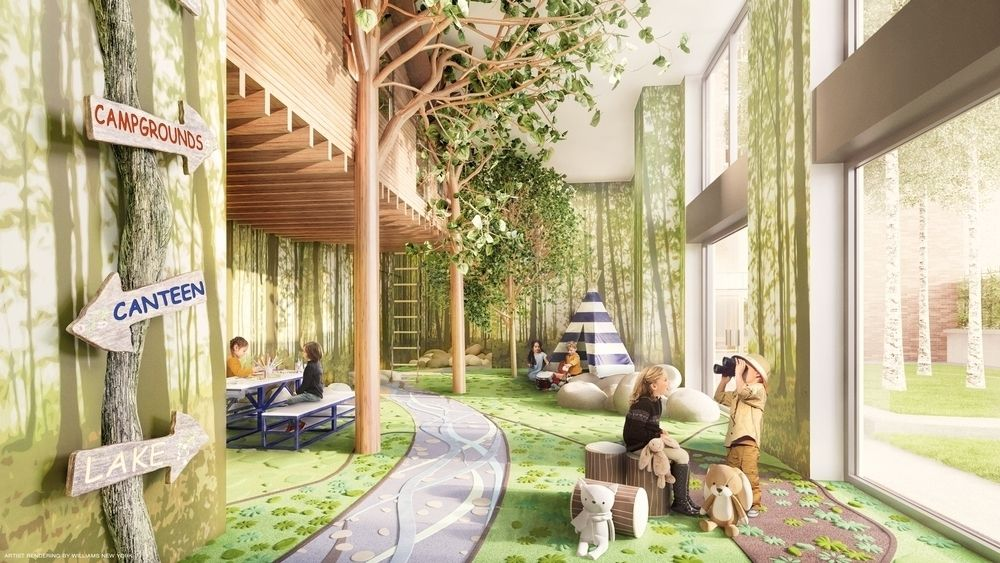 Williams New York 设计的儿童野营游乐室