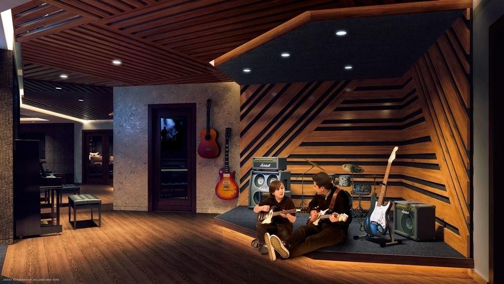 Kravitz Design 设计的音乐室