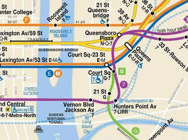 长岛城的地铁线路图