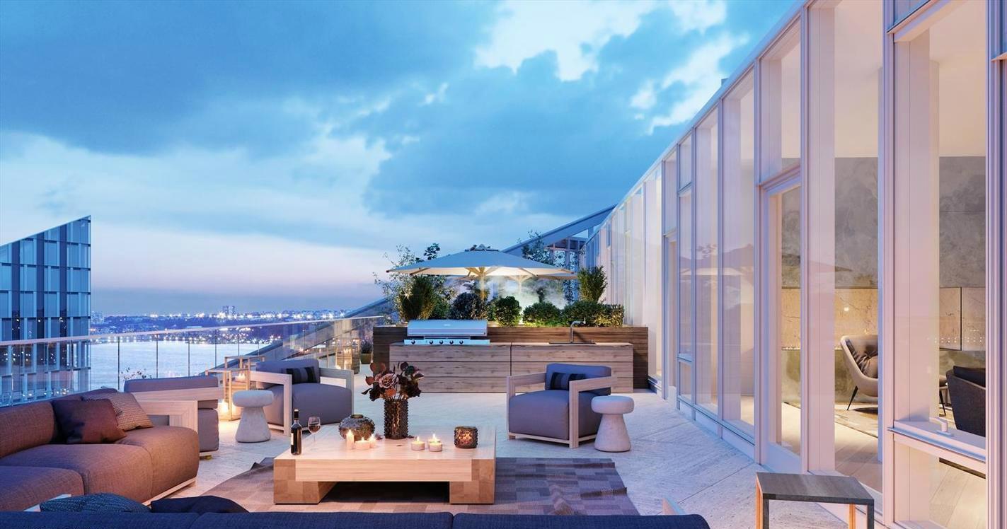这一户4卧顶层Penthouse的私人大露台